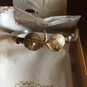 14kt Gold Starfish, Sand Dollar, Shell Bracelet